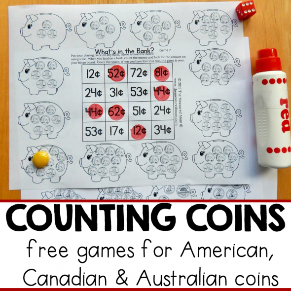 Get a pack of 12 free money games for K-2! These no-prep games are perfect for kids learning to count coins. Just print and play!