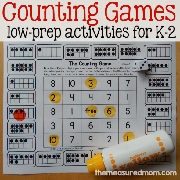 free counting games for K-2 square image