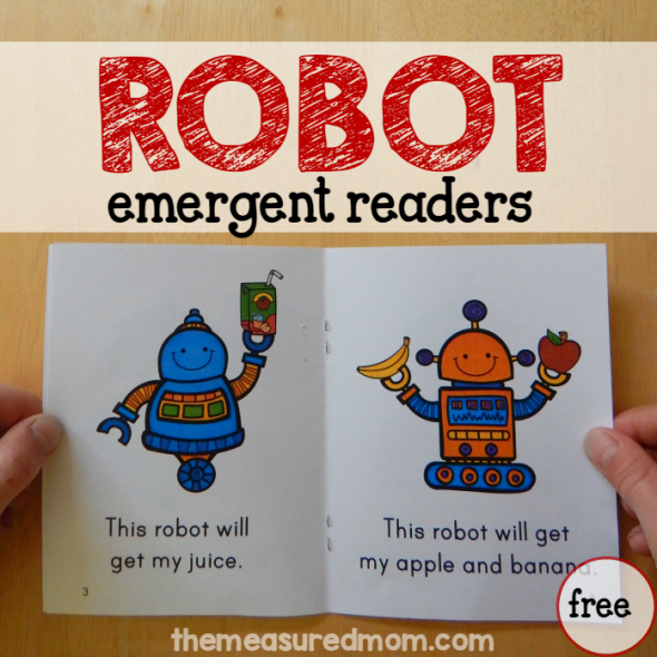 """These free robot books are great for early readers! They teach the sight words """"this"""" and """"do."""""""
