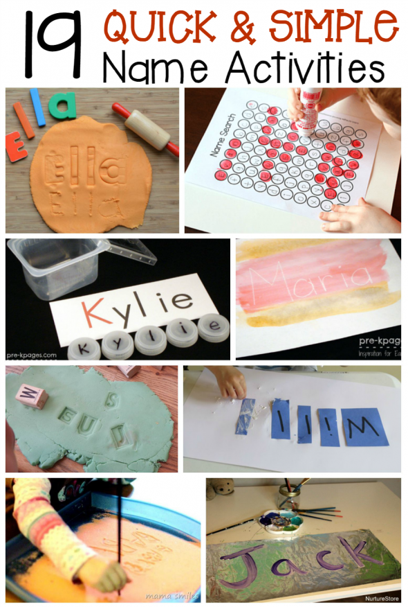 Check out these simple name activities for preschool and kindergarten - I love how quick they are to set up!