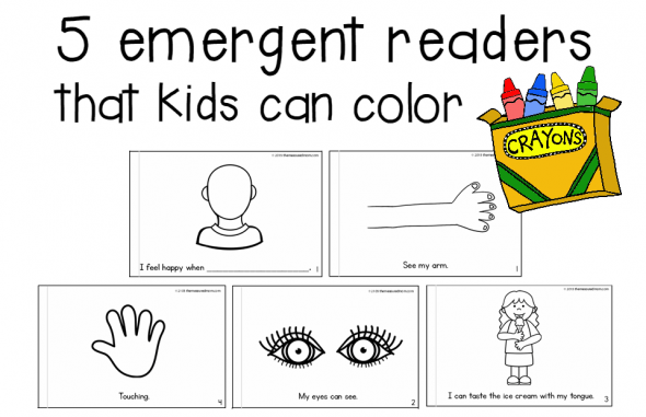 5 emergent readers that kids can color