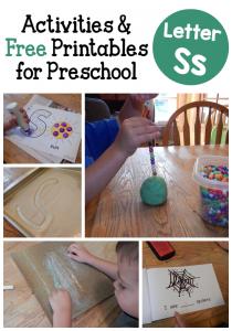 Letter S activities for preschool