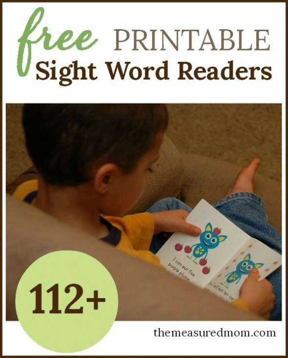 free sight word books!