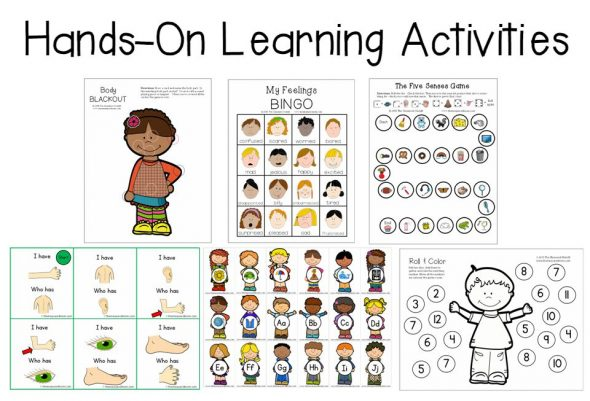 hands on learning activities for an all about me theme
