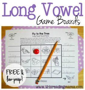 Free no-prep long vowel games