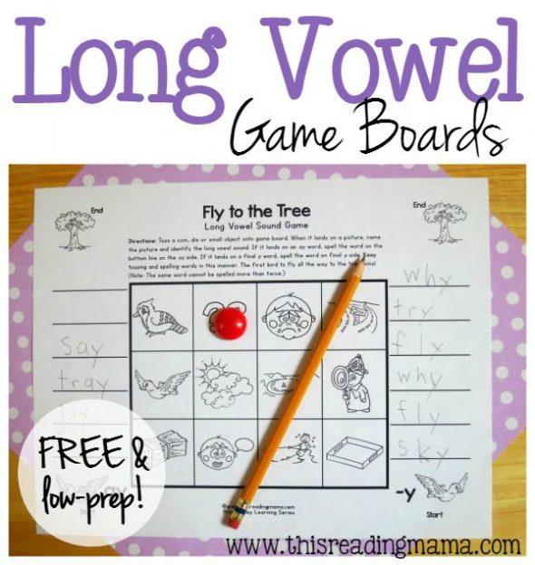 no prep long vowel game boards