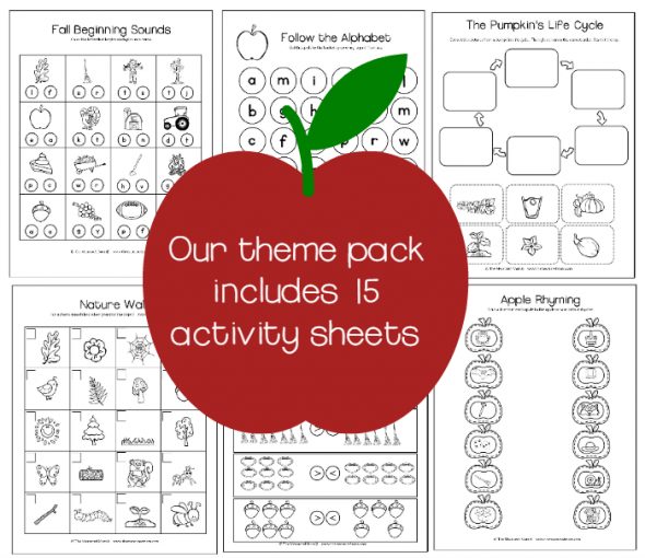 15 fall activity sheets preview