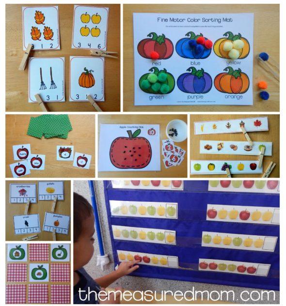 apple pumpkin and leaf hands on activities