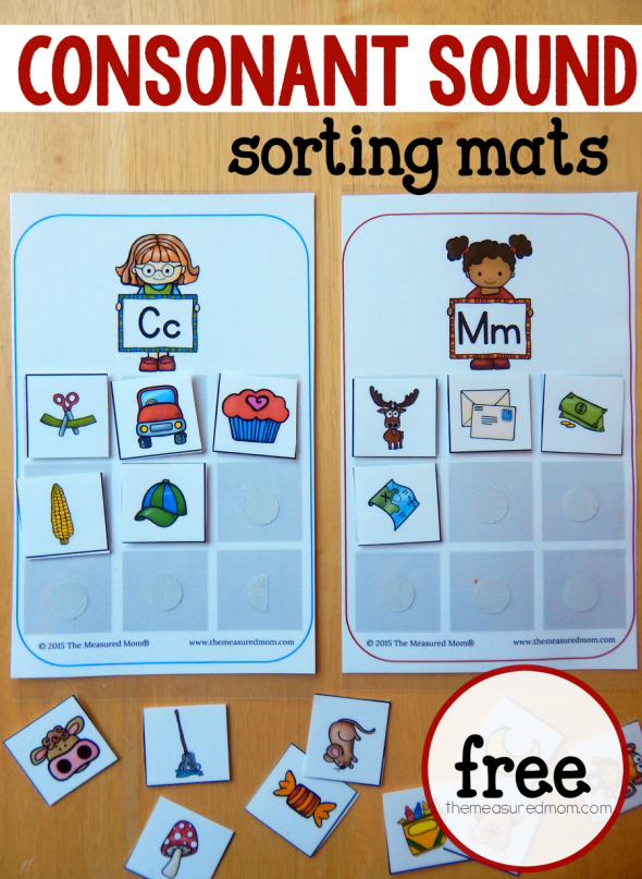 consonant sounds sorting mats