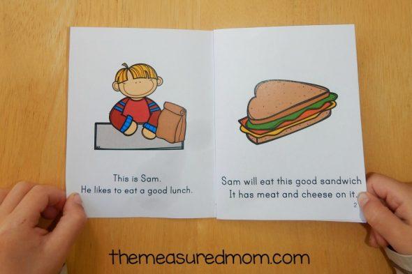 food emergent readers open book