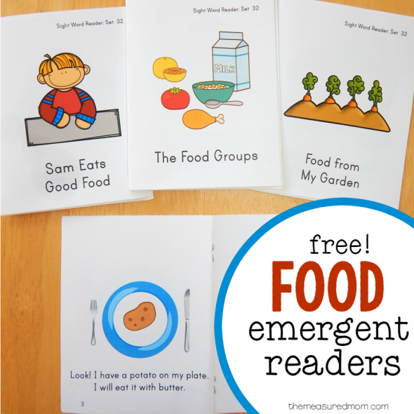 food emergent readers square image