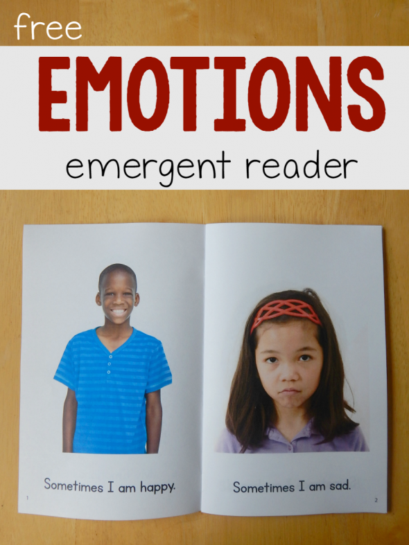 free emotions emergent reader