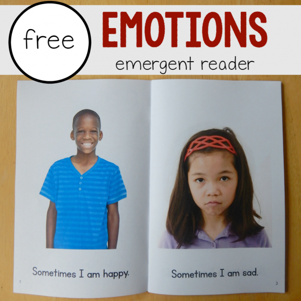 free emotions emergent reader square image