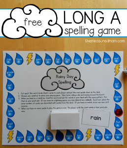 Free long a spelling game for a-e and ai words