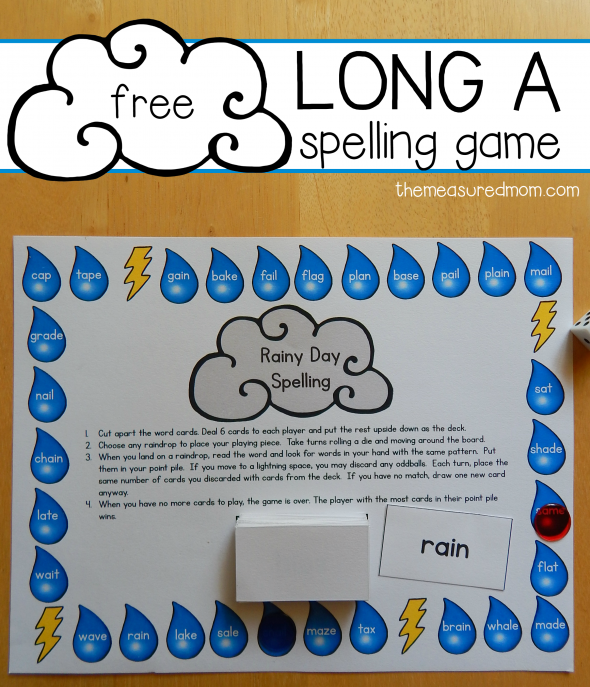 free long a spelling game