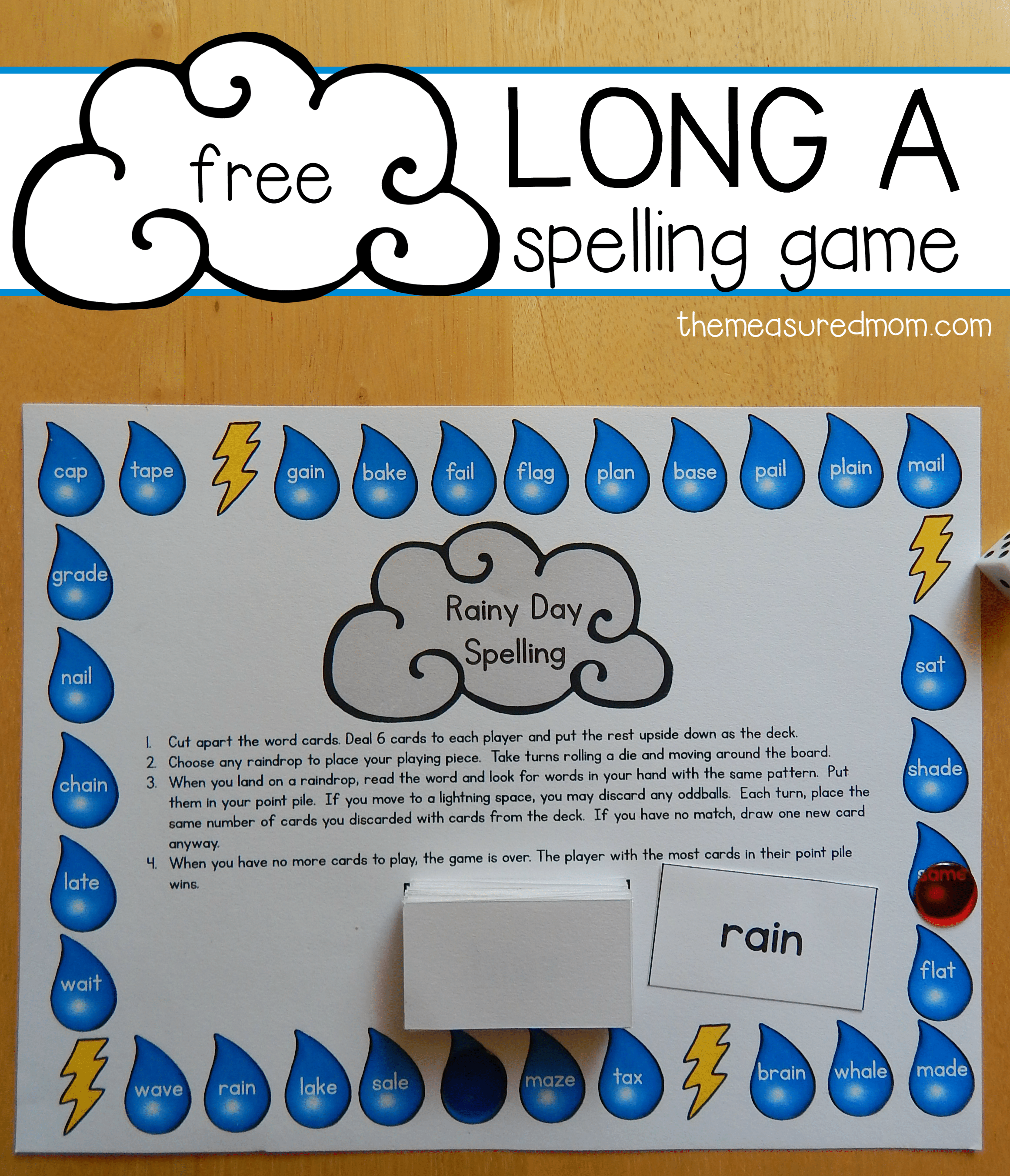 Free Home Design Create Play Educational Quiz Games: Free Long A Spelling Game For A-e And Ai Words