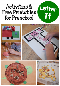 Letter T activities for preschool