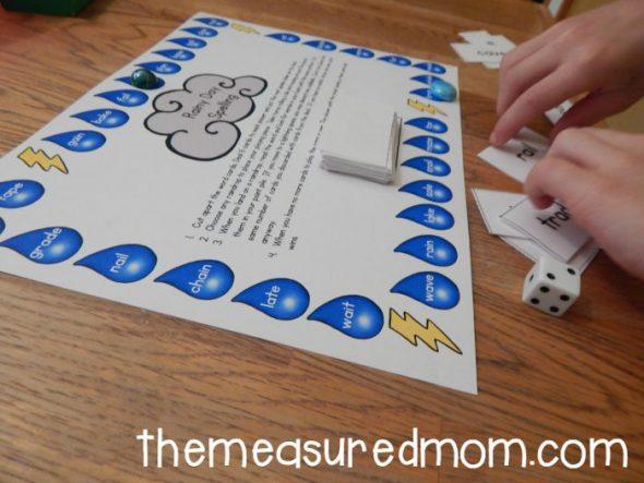 rainy day spelling game 1