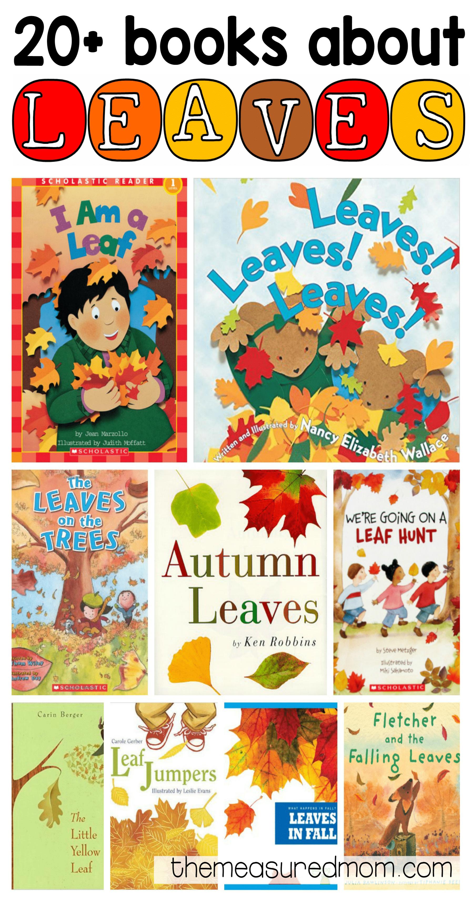 leaf books for kids the measured mom