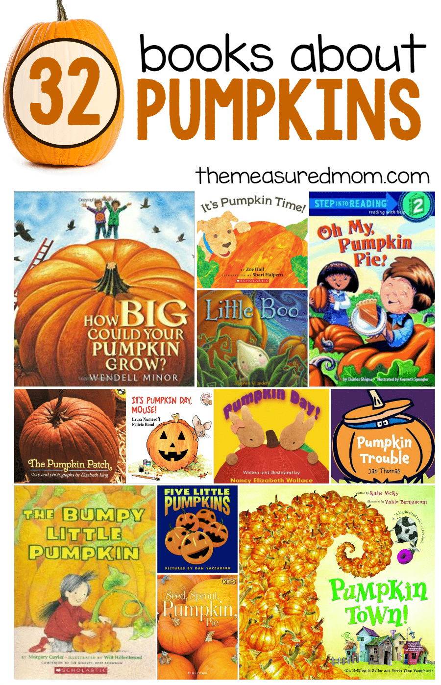 pumpkin books for kids the measured mom
