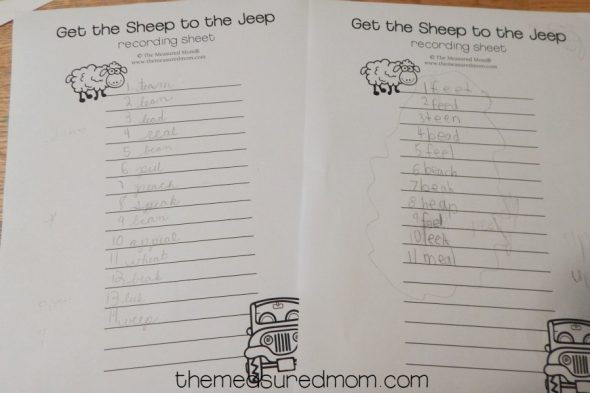 This is a great no-prep spelling game for ee words and ea words!