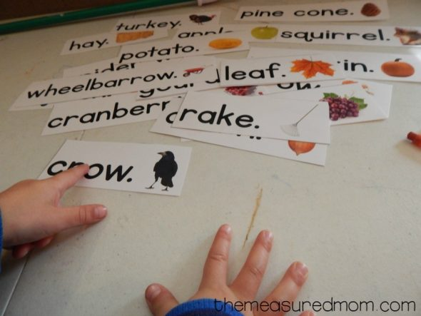 Need a Fall reading activity? Print these Fall pocket chart sentences!
