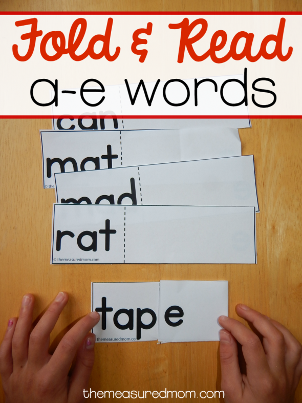 Learn to read a-e words with this free silent e activity that's quick and easy to prepare!