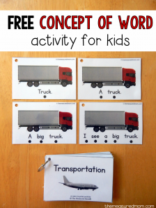 Teach concept of word with this free printable!