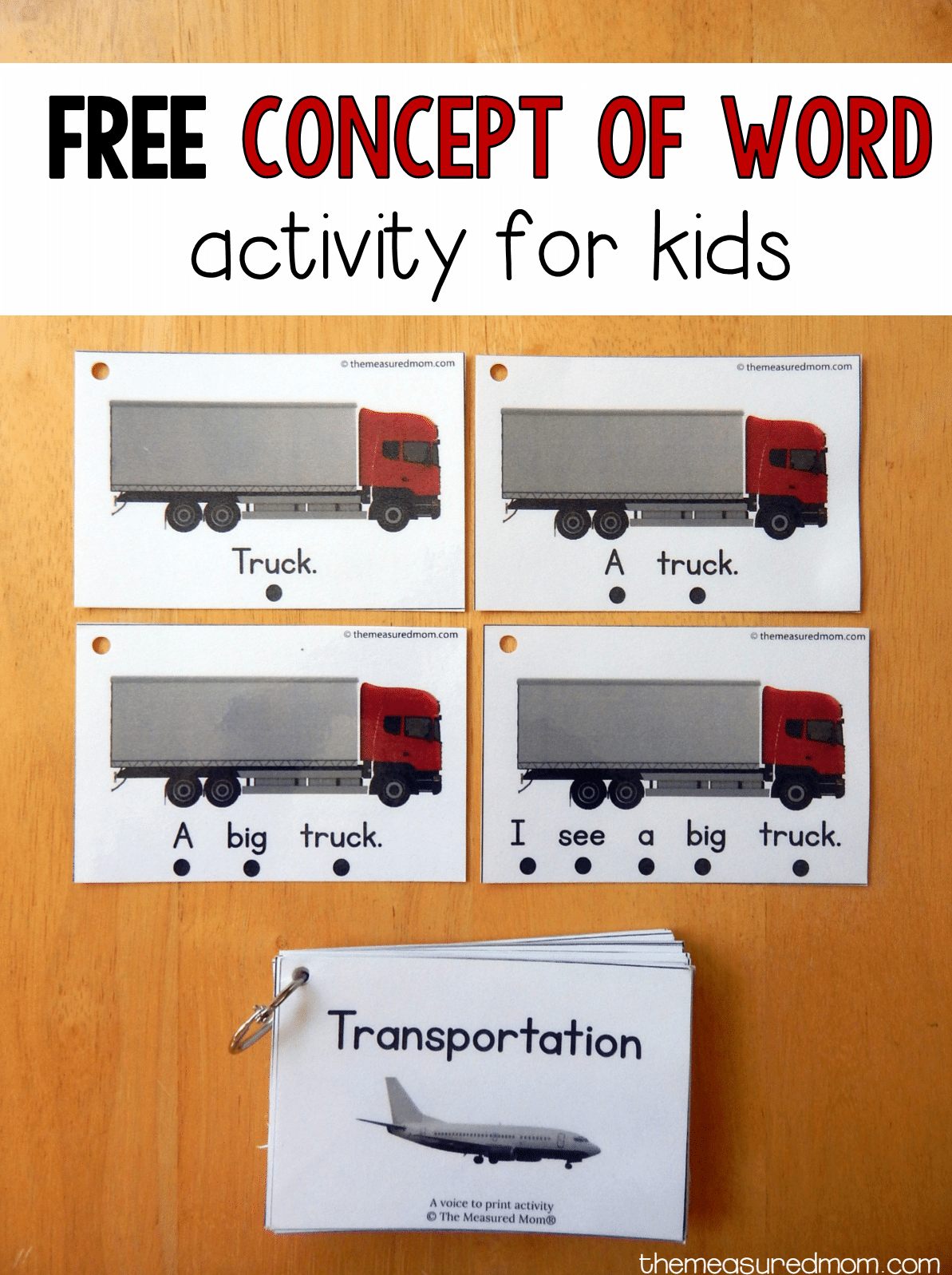 teach concept of word with this free printable the measured mom