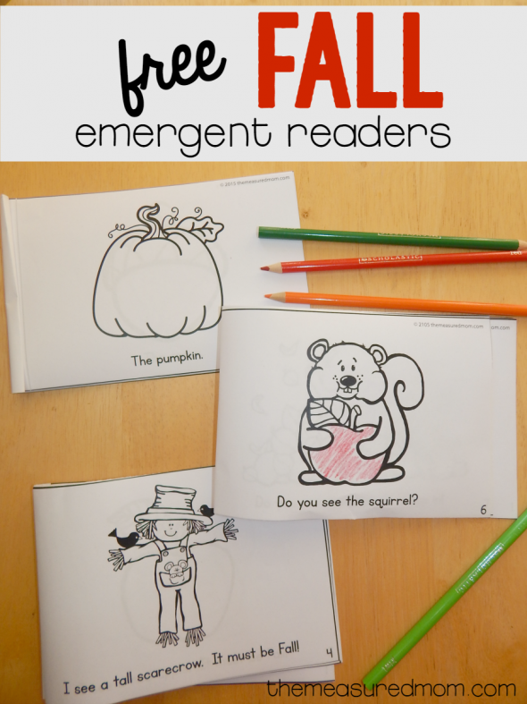 These Fall emergent readers are great for a Fall theme in preschool or kindergarten! Teach concepts of print and basic sight words!