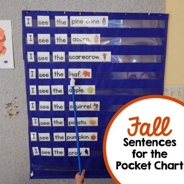 Need a Fall reading activity? Print these Fall pocket chart sentences!