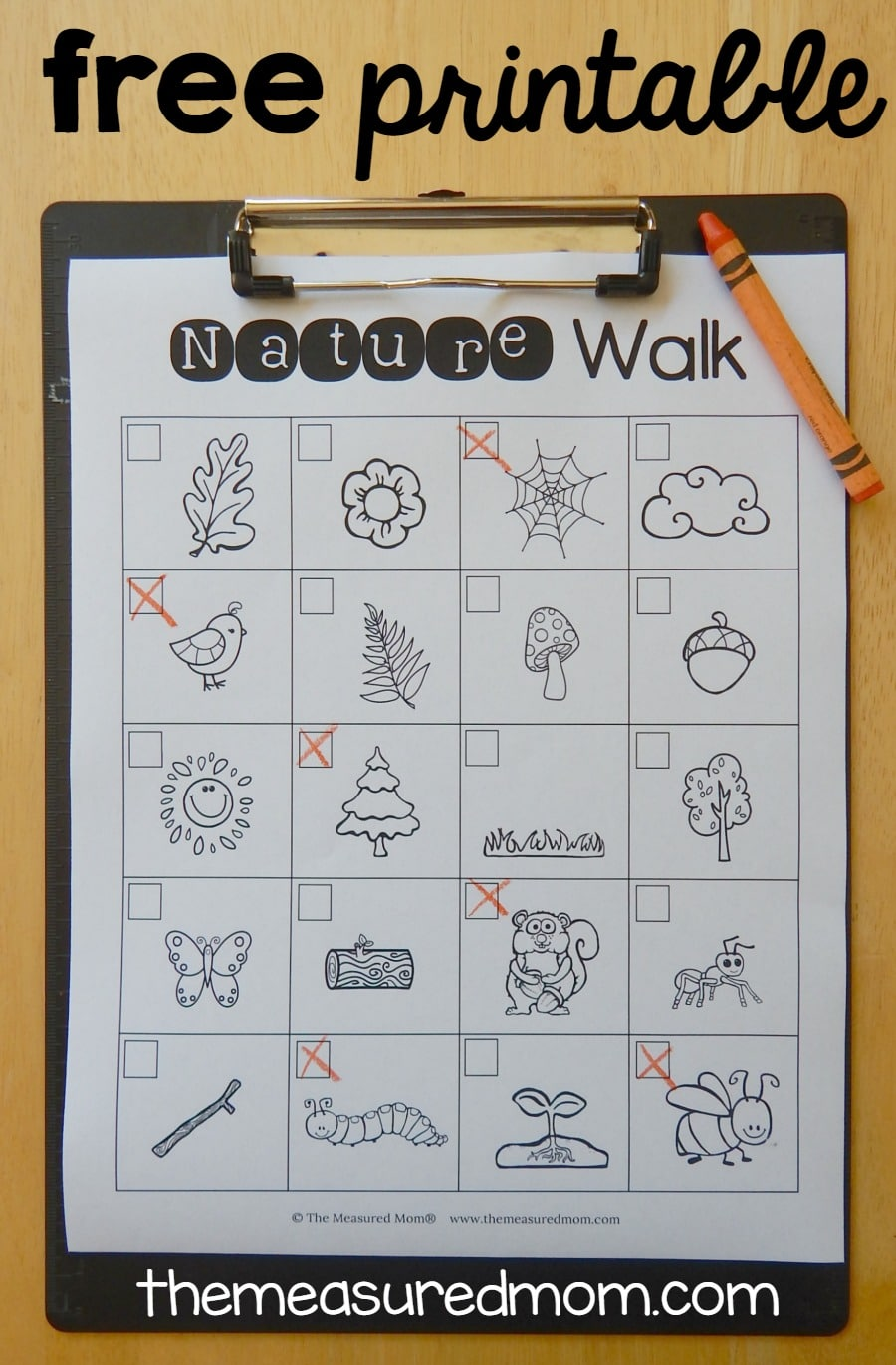 Free nature scavenger hunt The Measured Mom – Scavenger Hunt Worksheets