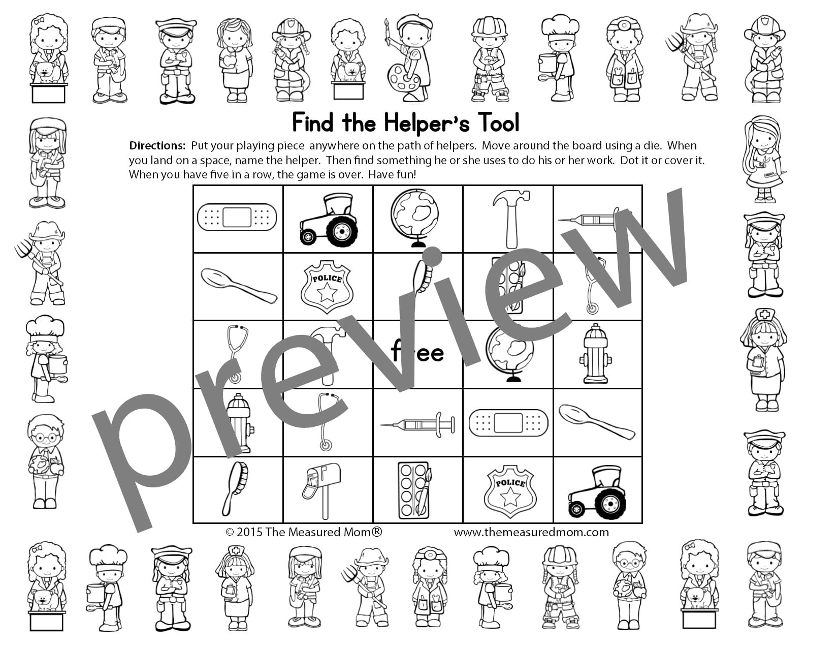 community helpers theme pack for pre k k the measured mom