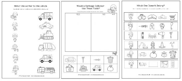 community helpers cut-paste worksheet (11) | POVOLANIA | Pinterest ...