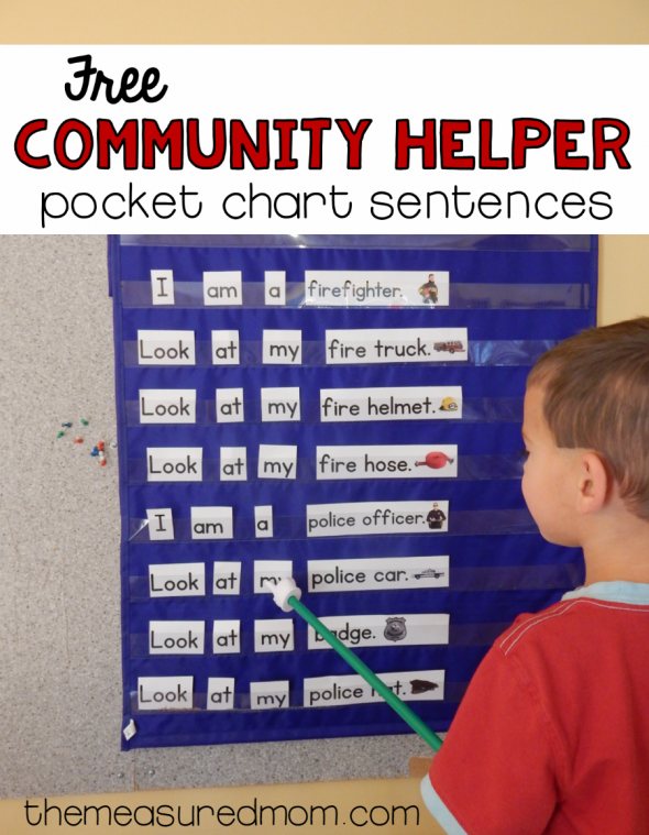 This free community helpers activity is just the thing for helping children learn concepts of print and basic sight words!