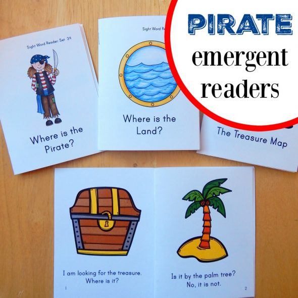 These pirate books for kids are perfect for brand new readers. Download and print for free!