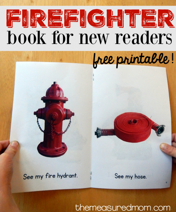 free printable firefighter book for new readers 2