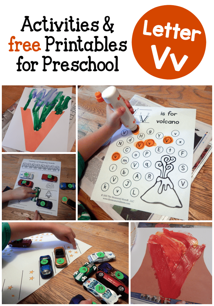 Letter V Activities for preschool - The Measured Mom