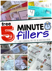 5 minute math and literacy activities (free!)