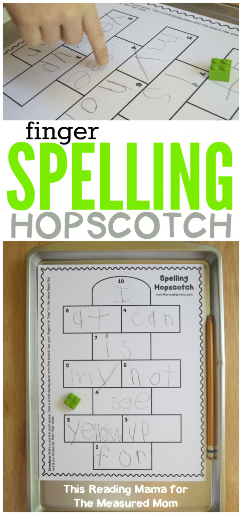 This free spelling game for kids can be used for any word list! Just print and play! x1024