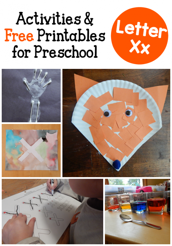 Letter X Activities for Preschool