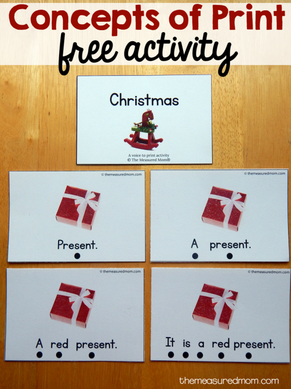 christmas concepts of print activity