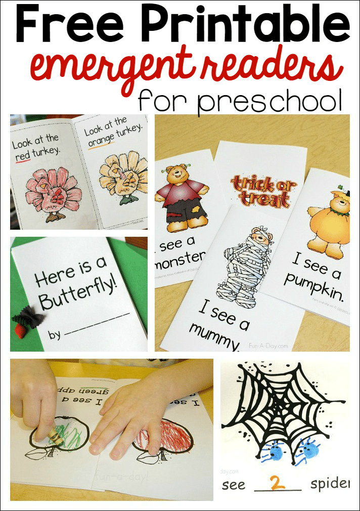 free printable emergent readers for preschool - Kindergarten Reading Books Free