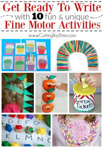 10 Fine motor activities that get kids ready to write!
