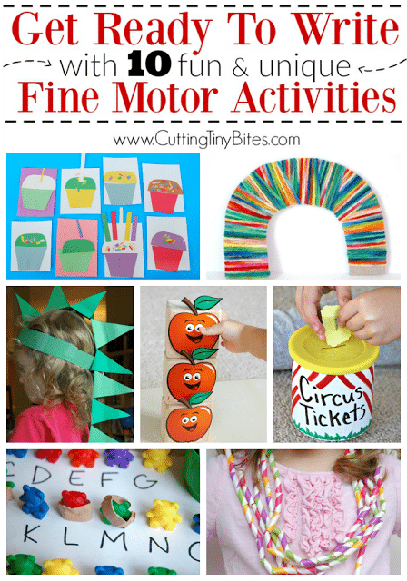 If your child is struggling to learn to write, try some of these fun fine motor activities for preschool and kindergarten to strengthen his hand muscles!
