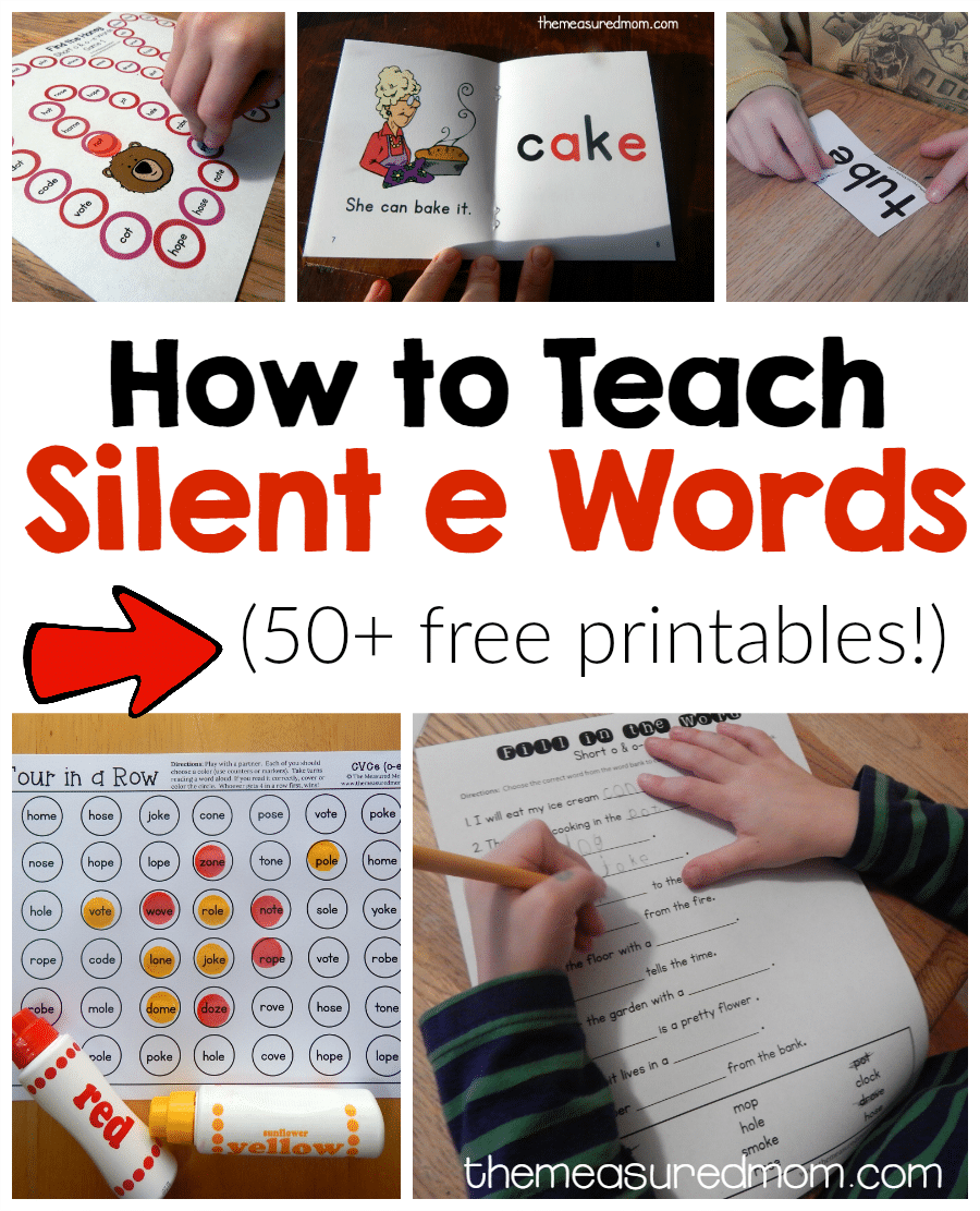 How to teach magic e words - The Measured Mom