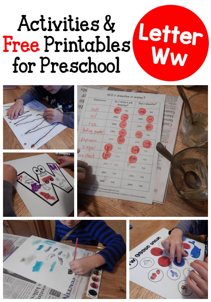 Letter W Activities for preschool - The Measured Mom