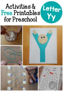 Letter Y Activities for preschool
