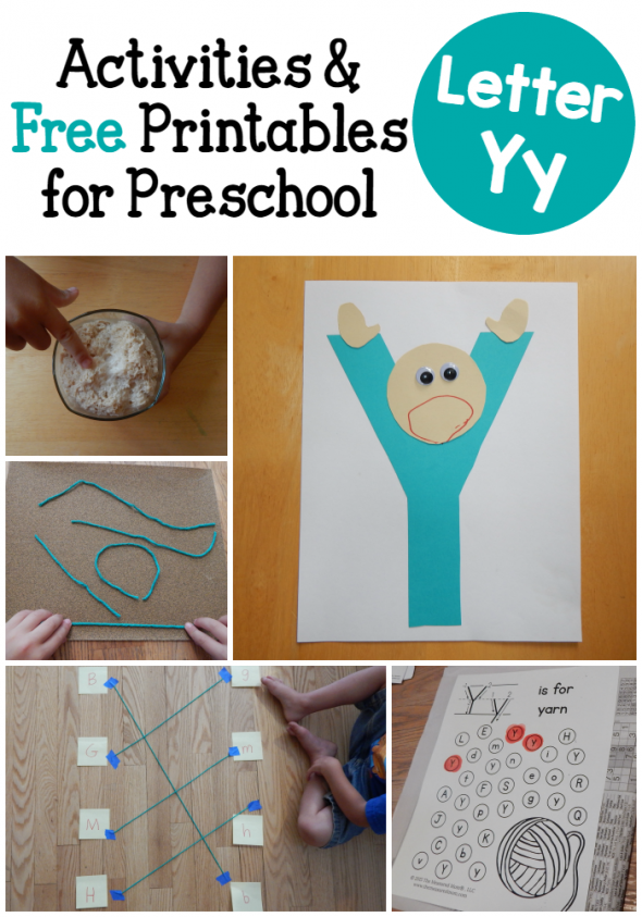 letter Y activities for preschol