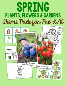 New! Spring activities theme pack for preschool and kindergarten!